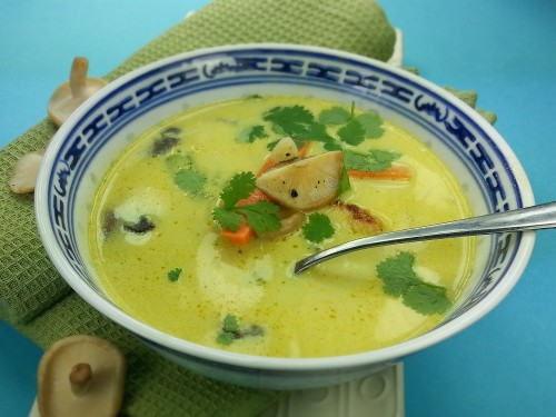 Curry-Kokossuppe