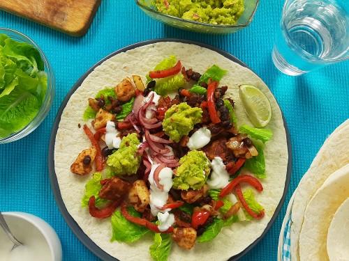 Würzige Halloumi-Tacos