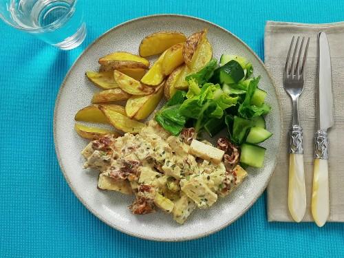 Veganes Ragout mit leckeren Kartoffeln