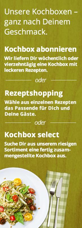 Riesige Auswahl an Kochboxen