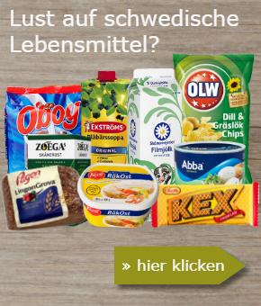 Schwedische Lebensmittel Banner
