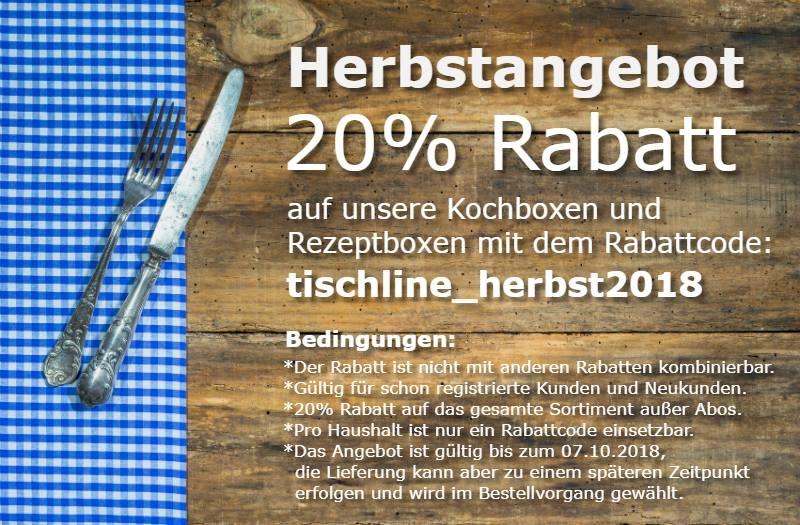 Kampagne 20% Rabatt auf Kochboxen