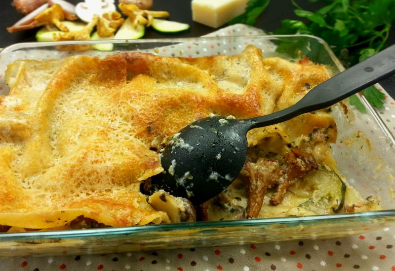 Vegetarische Pilz-Zucchini-Lasagne